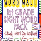 Dolch 1st Grade High Frequency Word Cards - Chevron Primar