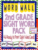 Dolch Second Grade High Frequency Word Cards - Chevron Pri