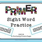 Dolch Primer Four Squares Activity