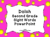 Dolch Second Grade Sight Word PowerPoint~Bold Design