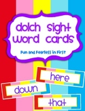 Dolch Sight Word Wall Cards {Bright & Cheerful}
