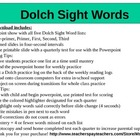 Dolch Sight Word Power Point Practice and Quarterly Test