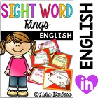Dolch Sight Word Rings {Pre-Primer to Second Grade}