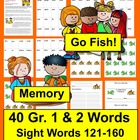"Dolch Sight Words ""Go Fish"" and  Memory Literacy Centers-Sets 7&8"