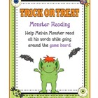 Dolch Words Trick or  Treat Monster Reading