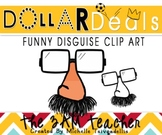 Dollar Deals Clip Art: Funny Disguise