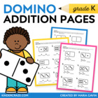 Domino Addition - Set of 8 Worksheets for Early Addition Concepts