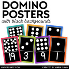 Domino Numeral Cards 1-20 {Black Series}