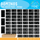 Dominoes / Dominos - Graphics Clipart for Teaching Resources