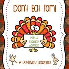 Don't Eat Tom! Math and Literacy Activities