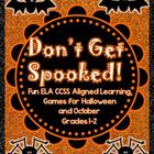 Don't Get Spooked: Halloween Learning Games for Grades 1-2