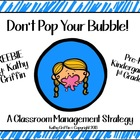 Don't Pop Your Bubble FREEBIE