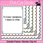 Doodle Frame / Border Clip Art - Personal & Commercial Use