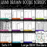 Doodle Borders Bundle [Set 1] 150 Frames for Commercial Use