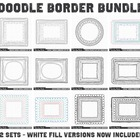 Doodled Digital Frames Clip Art - Value Pack
