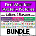 Dot Marker Mystery Picture Activities - Letters & Numbers Bundle