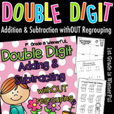 Double Digit Adding & Subtracting w/ NO regrouping Spring