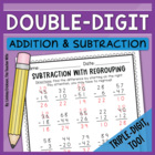 Double-Digit Math Packet {Triple-Digit, Too!}