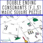 Double Ending Words Magic Square Puzzle