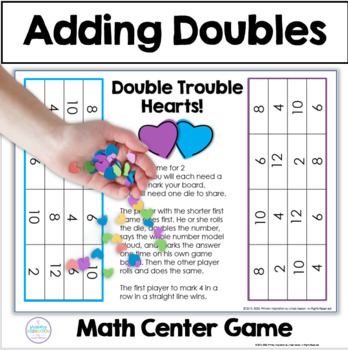 Double Trouble Hearts: Addition Doubles Facts