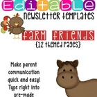 Newsletter Templates (12 included): Down on the Farm Theme