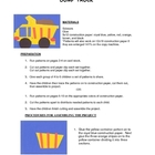 Downloadable Dump Truck Cut and Paste Art Project Pattern Packet