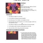Downloadable Fall Wreath Cut and Paste Art Project Pattern Packet
