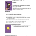 Downloadable Halloween Witch Cut and Paste Art Project Pat