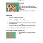 Downloadable Jaguar Cut and Paste Art Project Pattern Packet