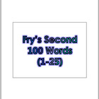 Dr. Fry's Second 100 Vocabulary Sight Words (1 - 100) Powe