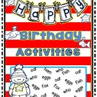 Dr.  Happy Birthday!  Short Vowel Activities