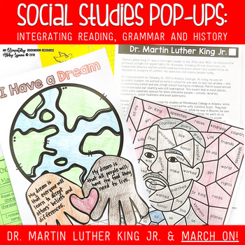 Dr. Martin Luther King, Jr. {Literacy Printables and Activities}