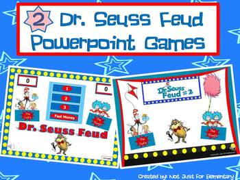 Dr. Seuss Feud Bundle: 2 Seuss Themed Powerpoint Games