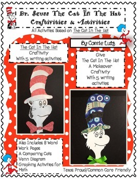 Dr. Seuss - The Cat In The Hat Craftivites and Activities