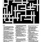 Drama - Keywords (Vocabulary) Crossword