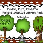 Draw, Cut, Create FOREST ANIMALS Literacy Habitat  Pack