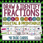 Draw & Identify Fractions Task Cards { Common Core } 40 Dr