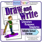 Draw and Write Literature Response - Middle School Version