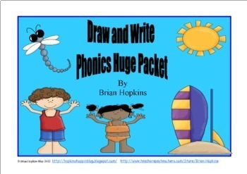 BlackFriday14 Draw and Write Phonics Sentences HUGE Packet