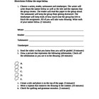 Drawing Activity Template and Rubric
