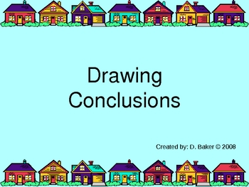Drawing conclusions worksheets pdf