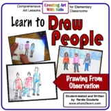 Drawing People - an Observation Drawing Art Lesson