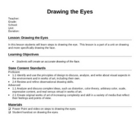 Drawing the Eyes Lesson