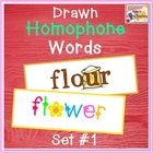 Drawn Homophones - Word Wall - Set 1