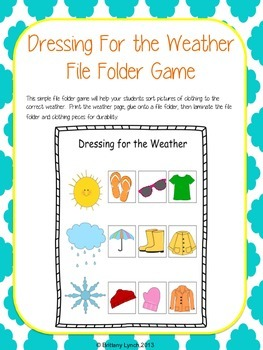 Dressing for the Weather (File Folder Game)