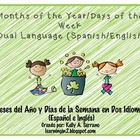 Dual Language Months of the Year and Days of the Week