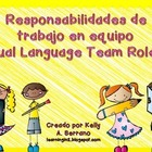 Team Role Cards in Spanish / Responsabilidades de trabajo