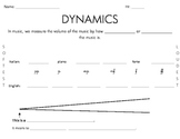 Dynamics Handout- Includes Symbols, Italian, & English