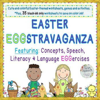 Easter Pre-k to 2nd Grade Eggstravaganza: Concepts, Speech, Language, & Literacy
