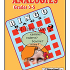 Analogies for Grades 3-5 Bingo Game
